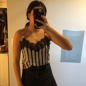 Zara striped cami
